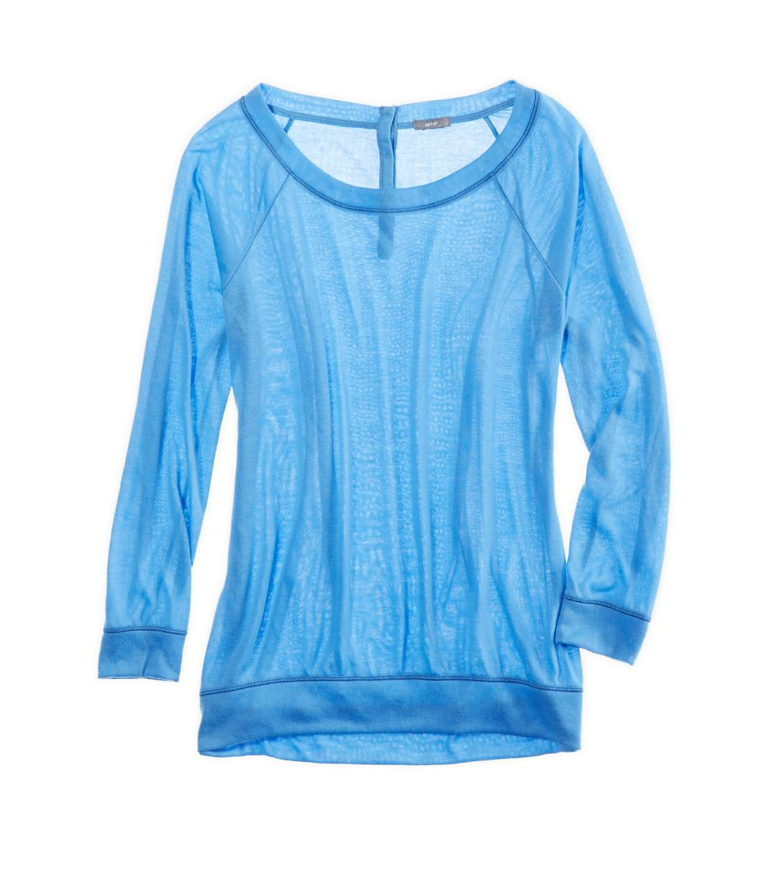 Blue Eyes Aerie Soft Button-Back T-Shirt
