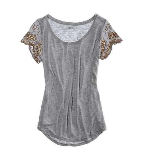 Aerie Sequin Sleeve T-Shirt