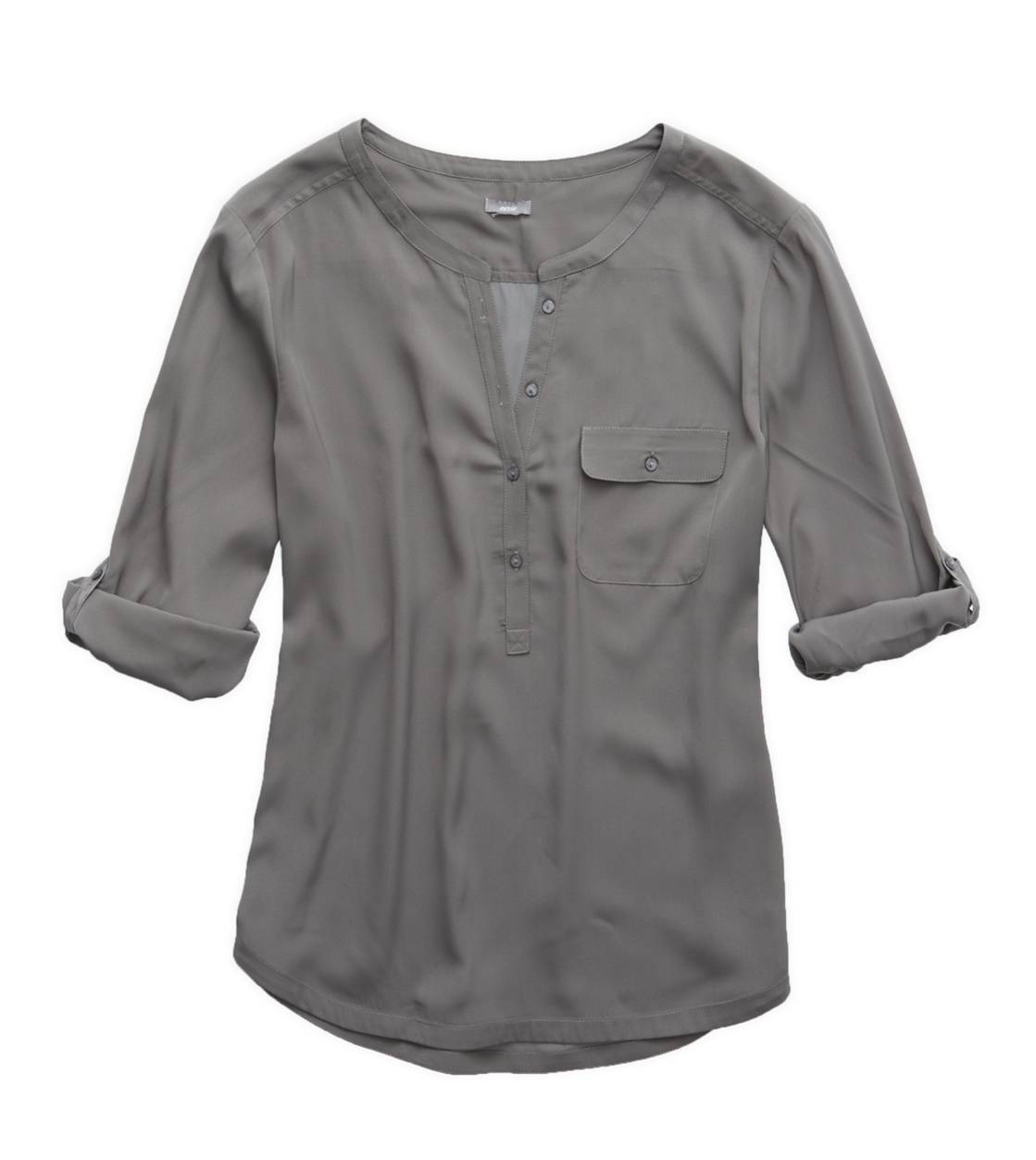 Pewter Aerie Silky Button Down Shirt