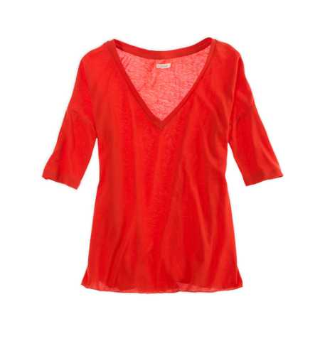 Aerie Softest Loose V-Neck Tee
