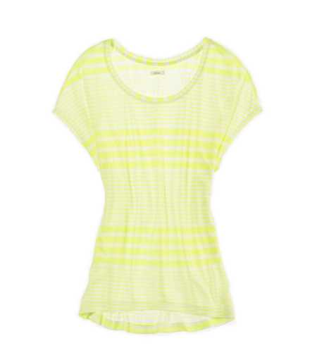 Aerie Striped Hi-Lo T