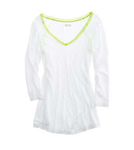 Aerie Pretty Chiffon Tee - Take 25% Off