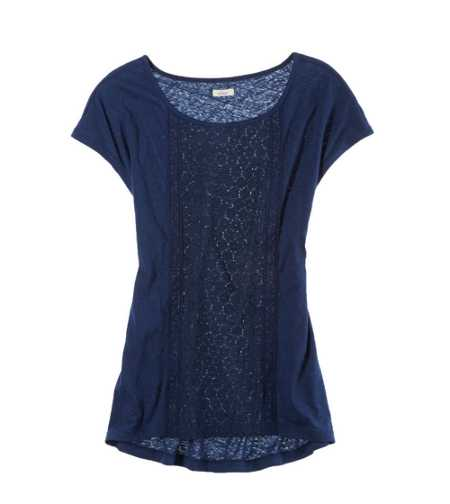 Aerie Paneled Lace Dolman Tee - Take 40% Off