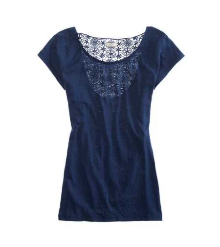 Aerie Crochet Back Tee - Take 25% Off