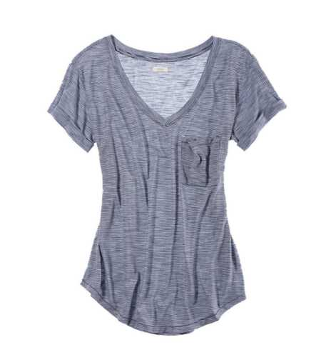 Aerie Perfect Striped Boyfriend Tee - Take 25% Off