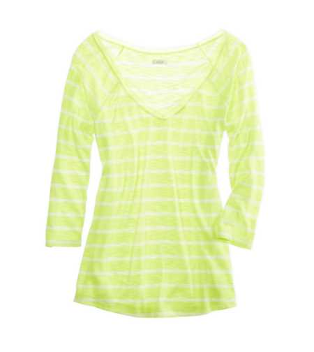 Aerie Pretty Striped Chiffon Tee