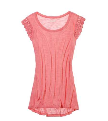 Aerie Crocheted Hi-Lo Tee - Take 25% Off