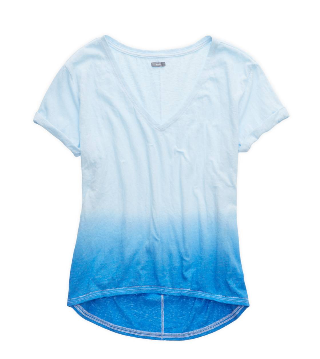Rome Blue Aerie Deep V-Neck Oversized Dip Dye T-Shirt