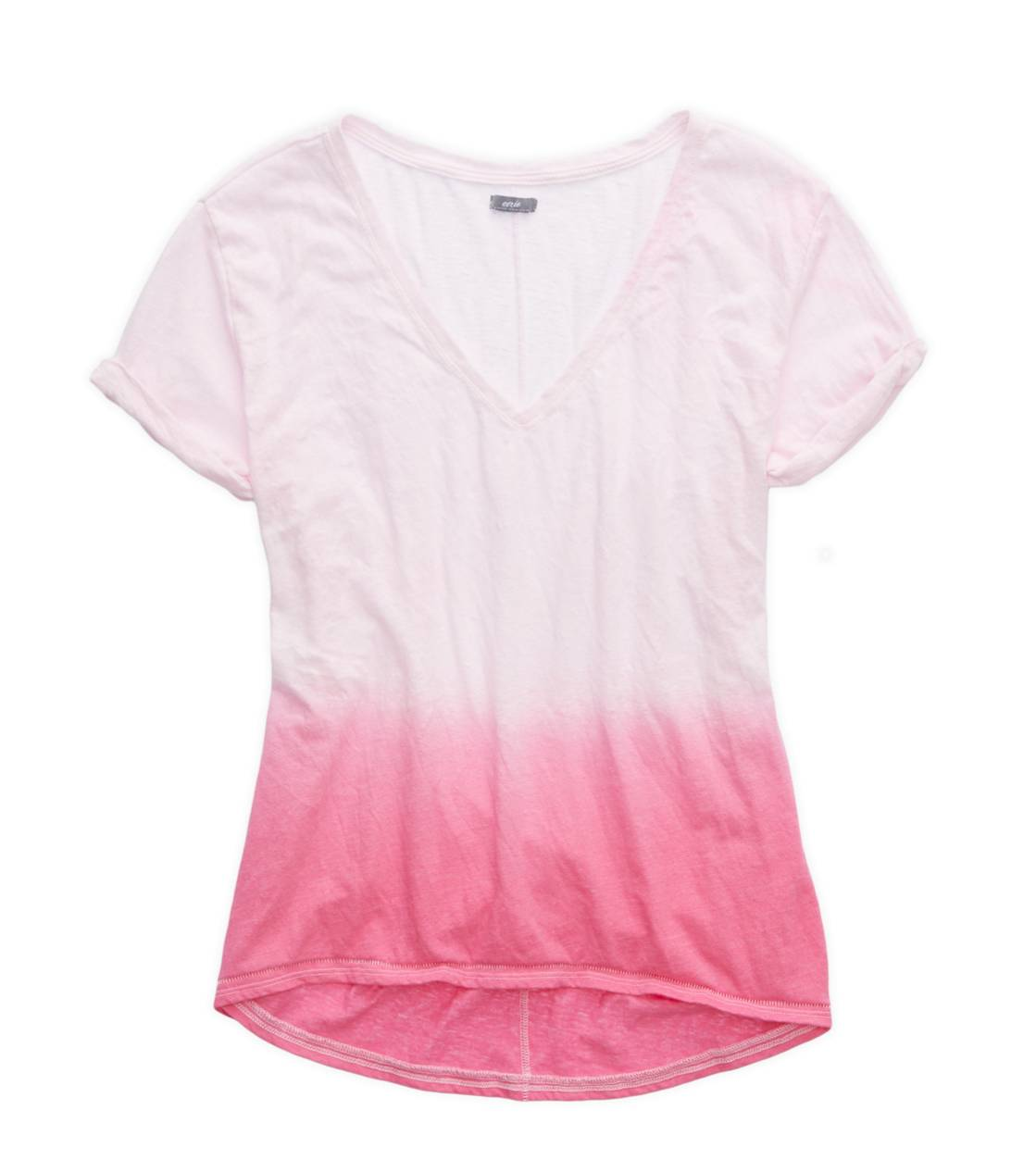 Sweetheart Aerie Deep V-Neck Oversized Dip Dye T-Shirt
