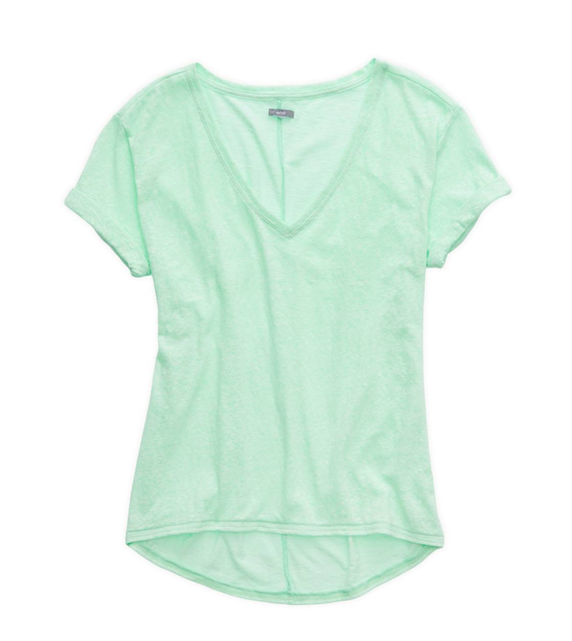 Cupcake Green Aerie Deep V-Neck Oversized T-Shirt