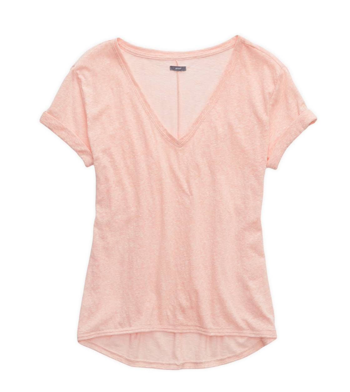 Orange Julius Aerie Deep V-Neck Oversized T-Shirt