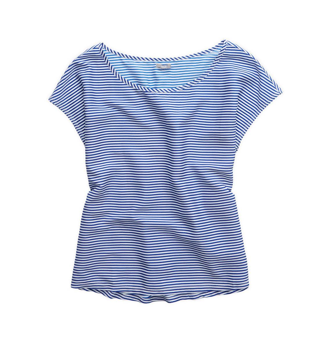 Cobalt Shade Aerie Striped Boxy T-Shirt
