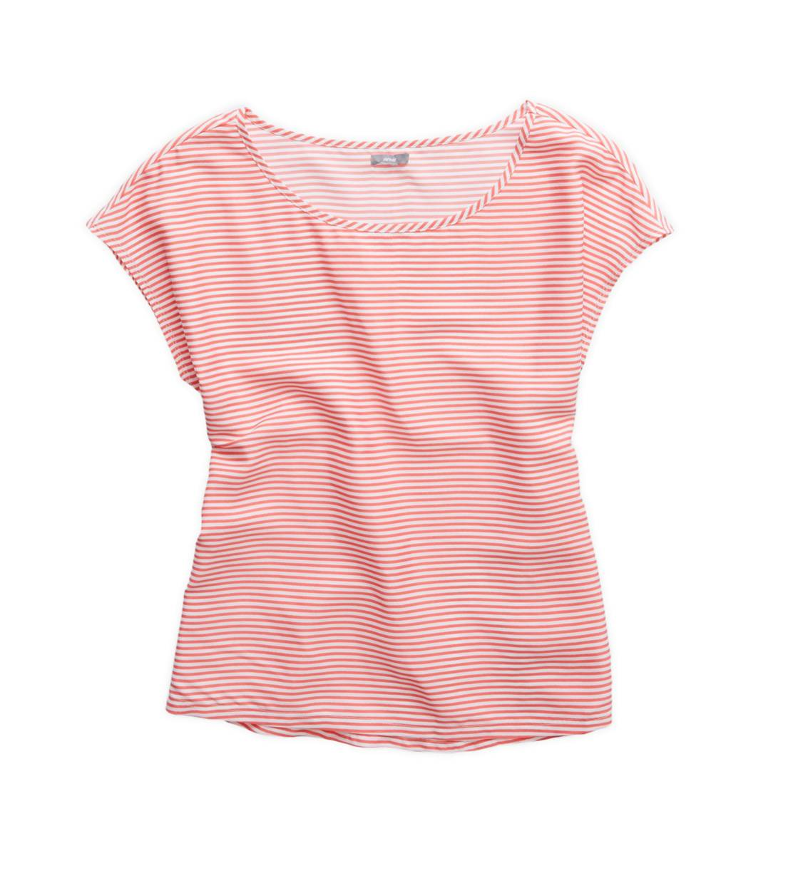 Whipped Strawberry Aerie Striped Boxy T-Shirt