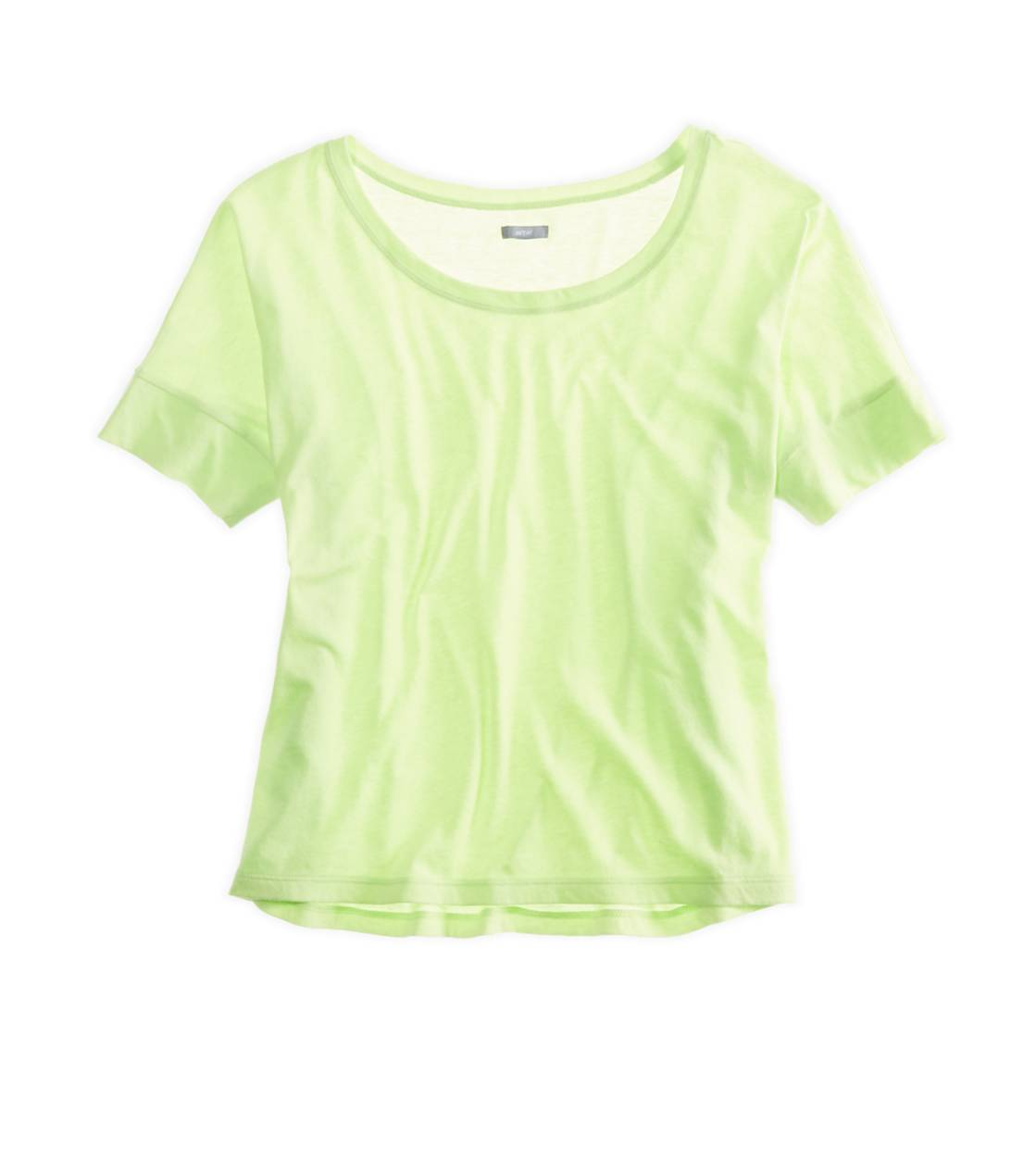 Sharp Green Aerie Crop T-Shirt