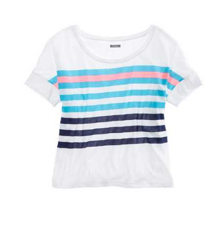 Aerie Striped Crop T-Shirt