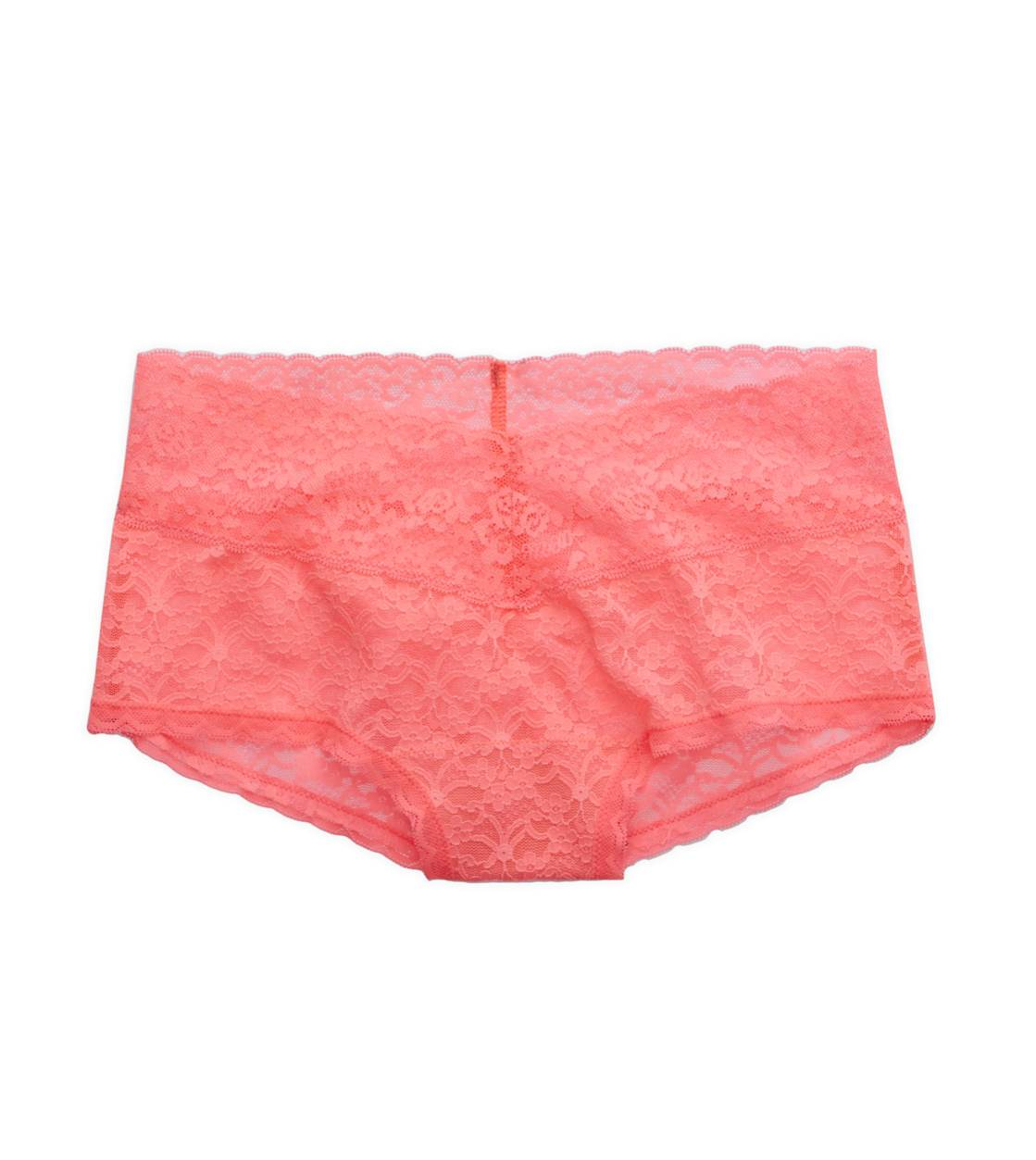 Shocking Pink Aerie Vintage Lace Girly Short