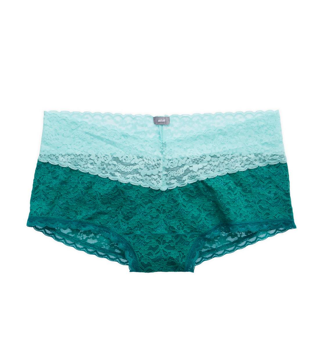 Teal Aerie Vintage Lace Girly Short