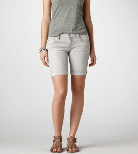 AE Grey Denim Bermuda Short - Take 40% Off
