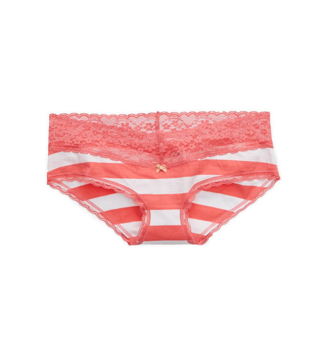 Whipped Strawberry Aerie Lace Trim Boybrief