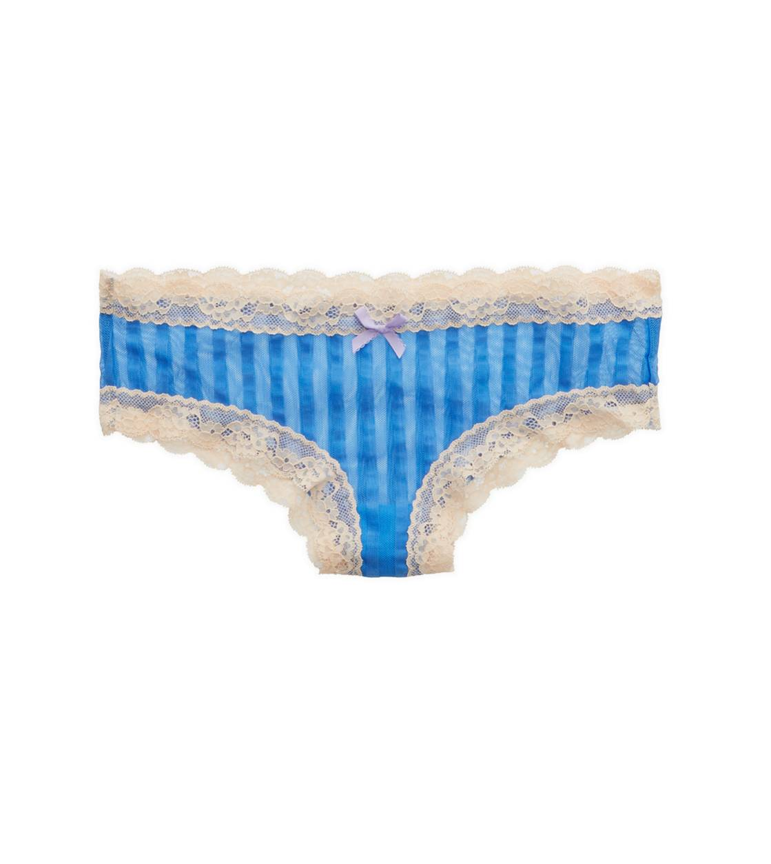 Rome Blue Aerie Stripe Mesh Cheeky