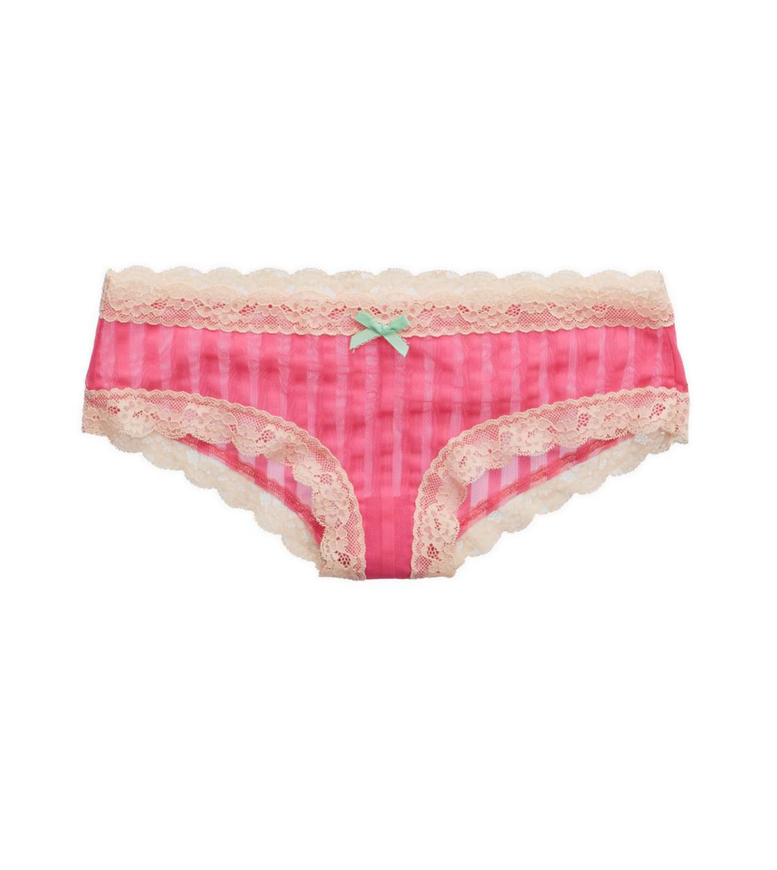 Sweetheart Aerie Stripe Mesh Cheeky