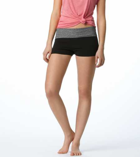 Aerie Slim Gym Yoga Shimmer Shortie