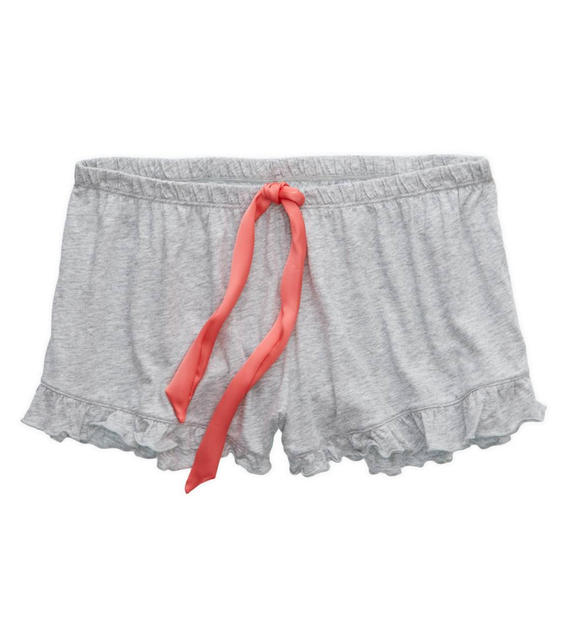 Medium Heather Grey Aerie Softest Ruffle Boxer