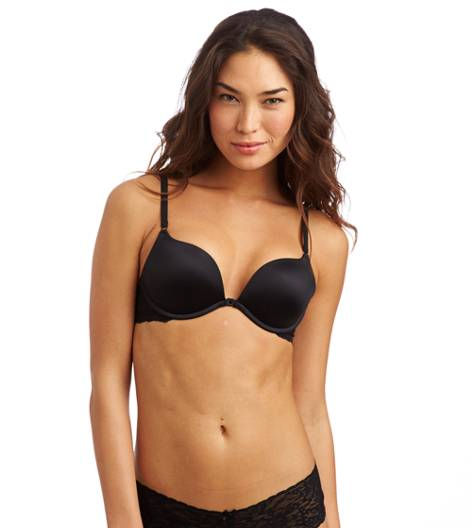 True Black Scarlet Adjustable Cleavage Pushup Bra