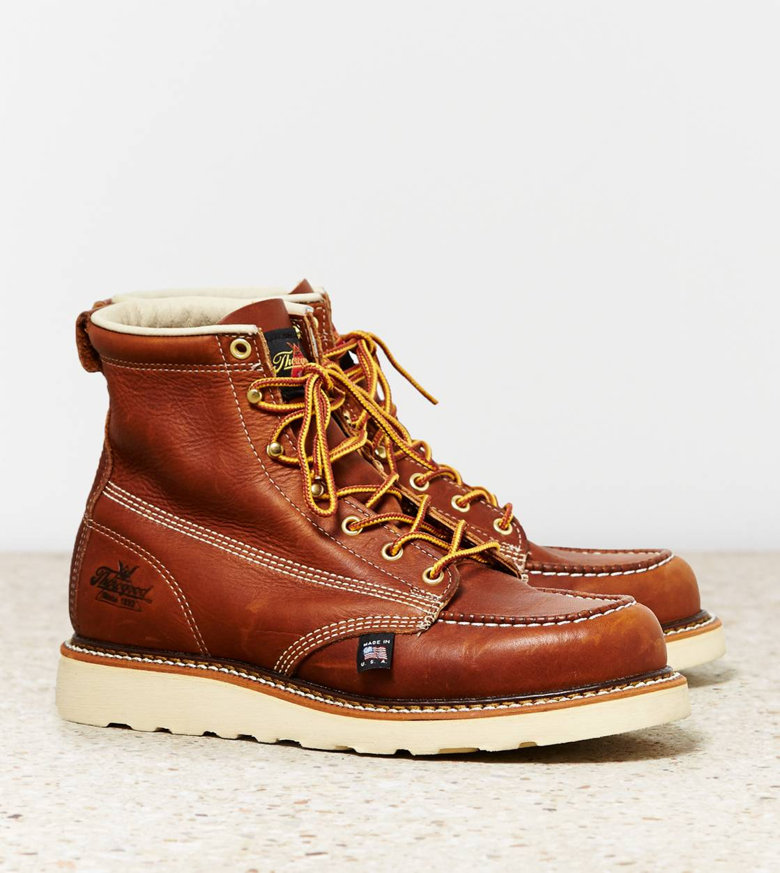 "Brown Thorogood 6"" Moc Toe Boot"