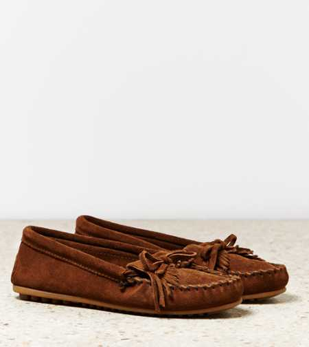 Minnetonka Kilty Suede Moccasin - Free Shipping On Shoes