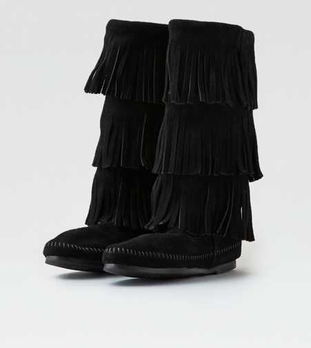 Minnetonka Triple Fringe Boot - Free Shipping