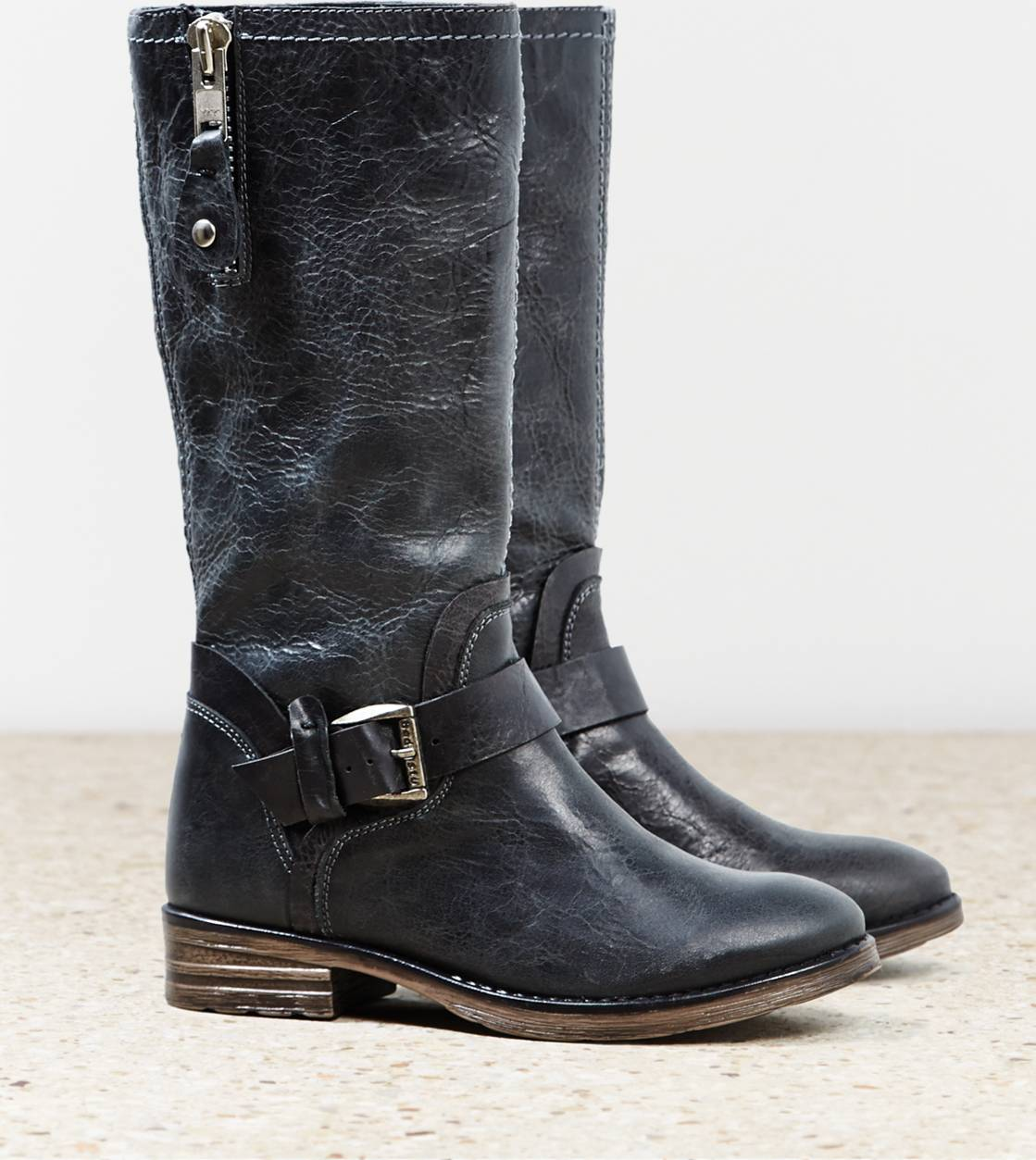 Black Bed Stu Token Moto Boot