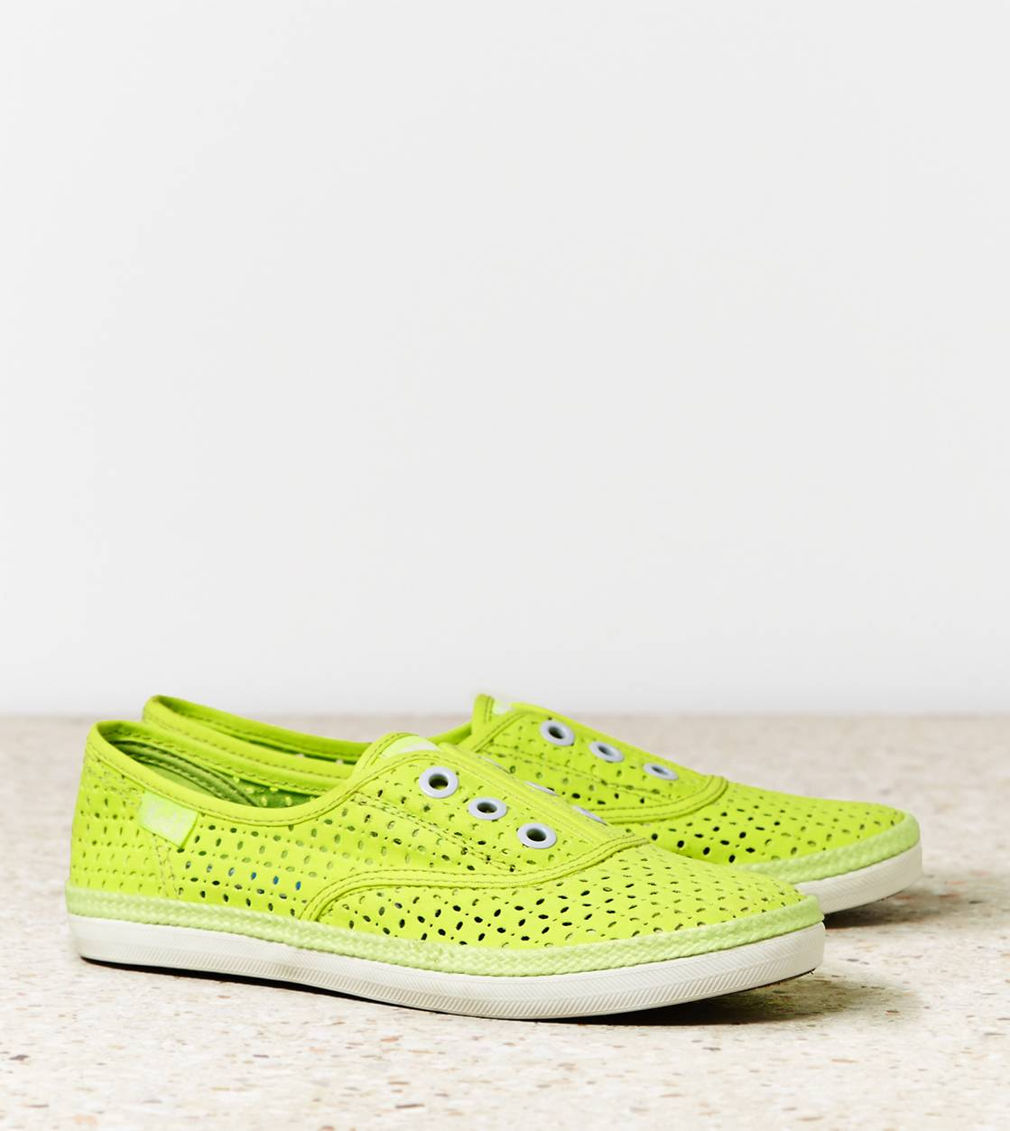 Yellow Keds Rookie Perf Laceless Sneaker