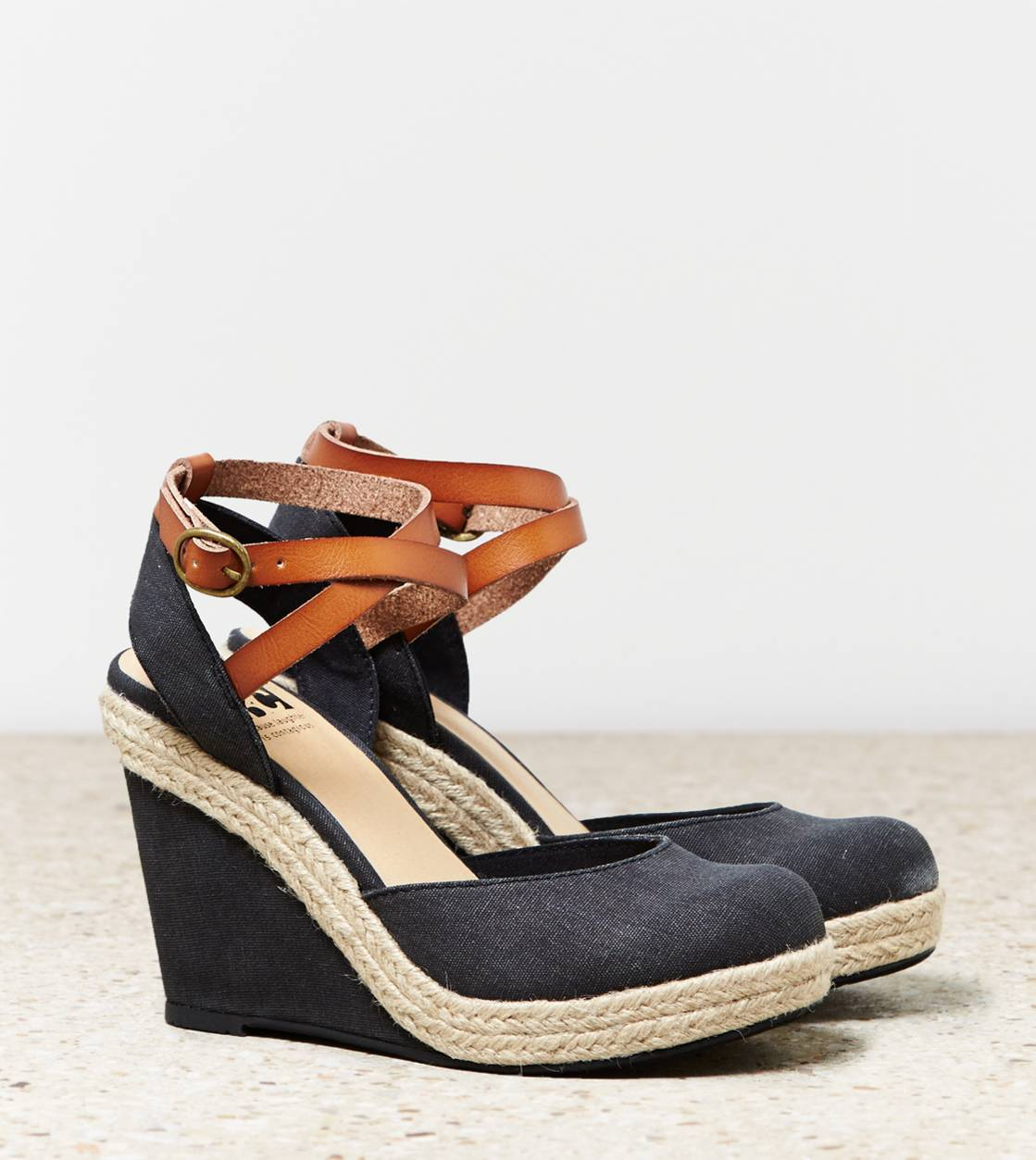 Black BC Rough And Tough Wedge Sandal