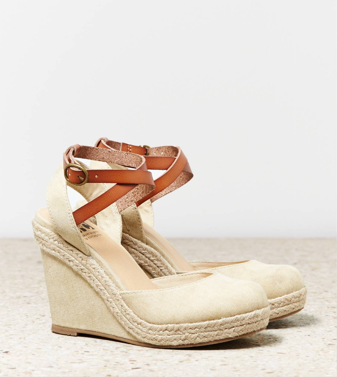 Natural BC Rough And Tough Wedge Sandal