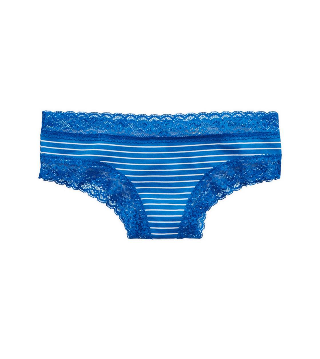 Blue Stead Aerie Lace Trim Cheeky