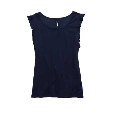 Aerie Ruffle Sleeve Softest Sleep Tank