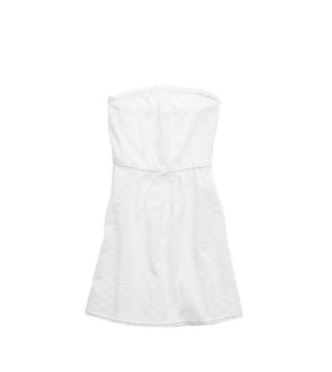 White  Aerie Eyelet Tube Dress