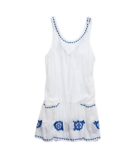 White  Aerie Pretty Drop Waist Dress