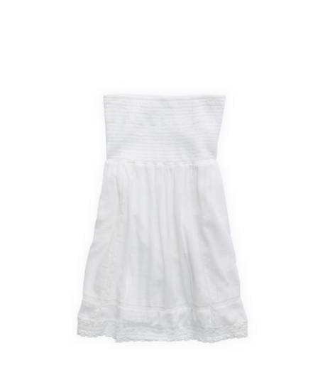 White  Aerie Smocked Dress