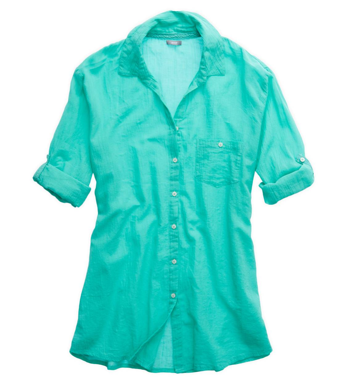 Mint Leaf Aerie Button Down Shirt