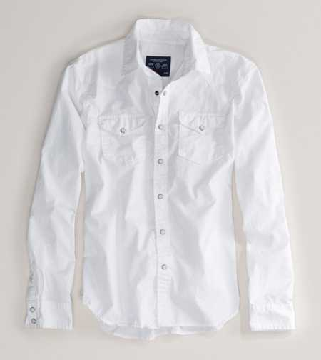 AE White Western Shirt - Vintage Fit