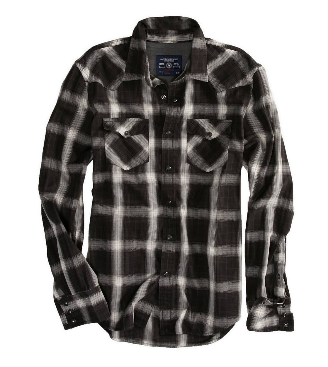 True Black AE Plaid Western Shirt
