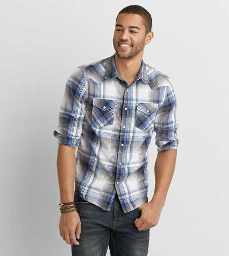 AEO Slim Western Button Down Shirt
