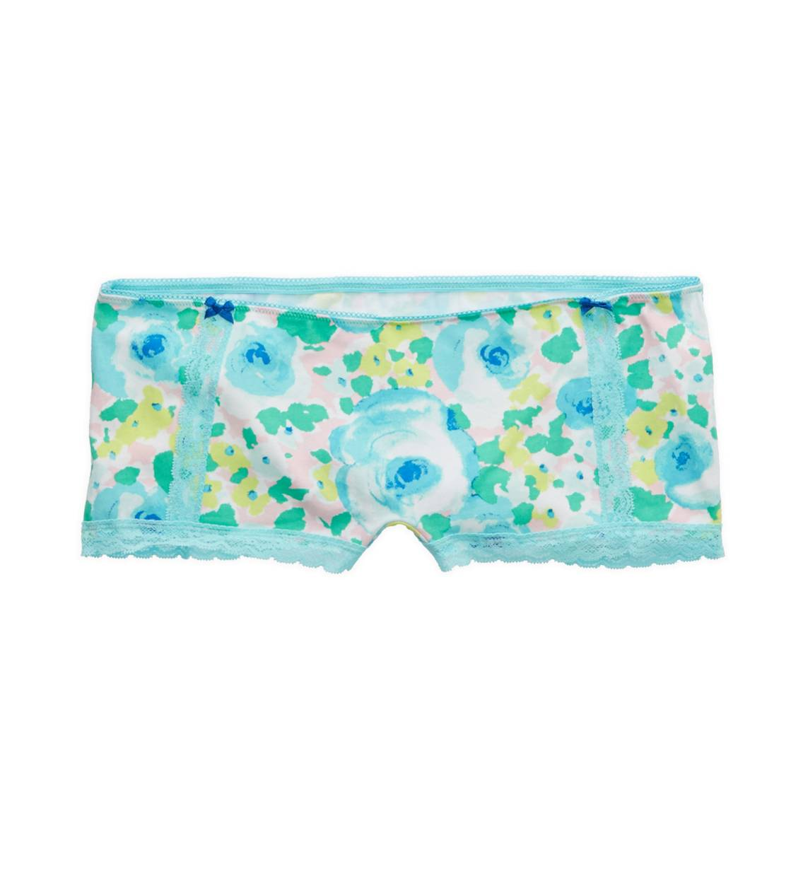 Preppy Pink Aerie Watercolor Floral Boyshort