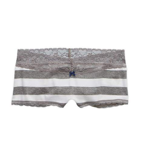 Dark Heather Grey Aerie Boyshort