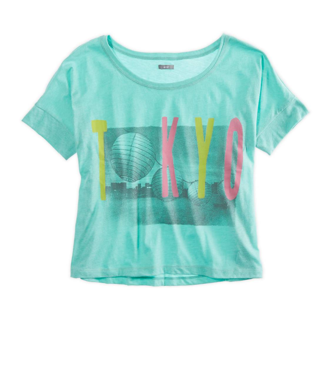 Lookbook Green Aerie Favorite Cities Graphic Crop T-Shirt