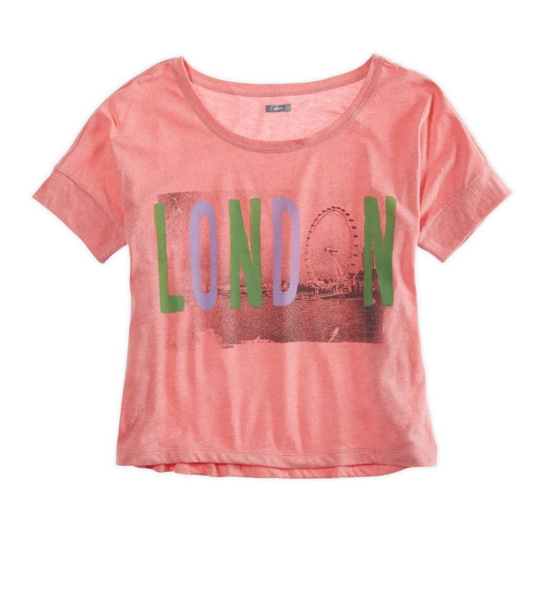 Whipped Strawberry Aerie Favorite Cities Graphic Crop T-Shirt