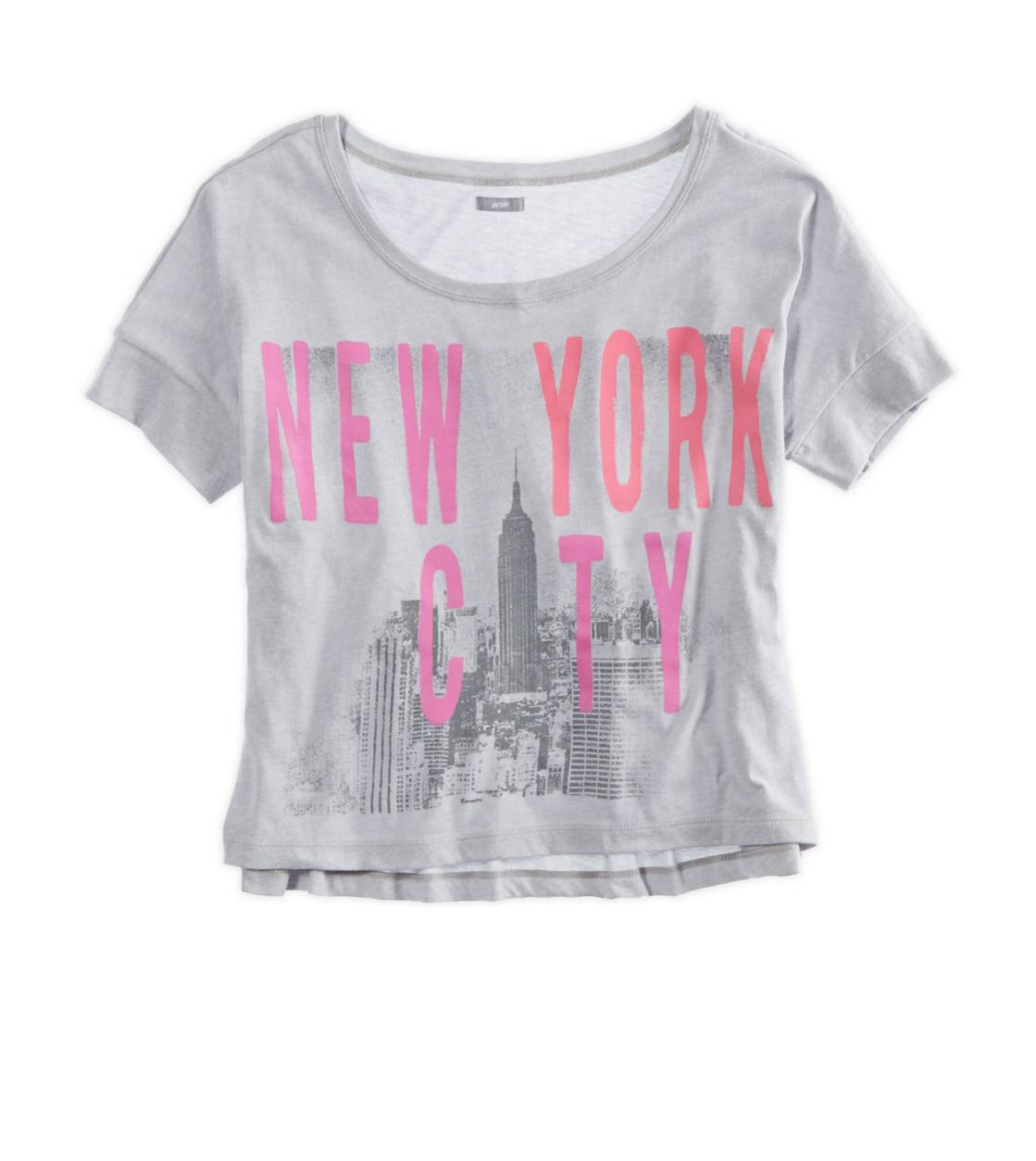 Slab Grey Aerie Favorite Cities Graphic Crop T-Shirt