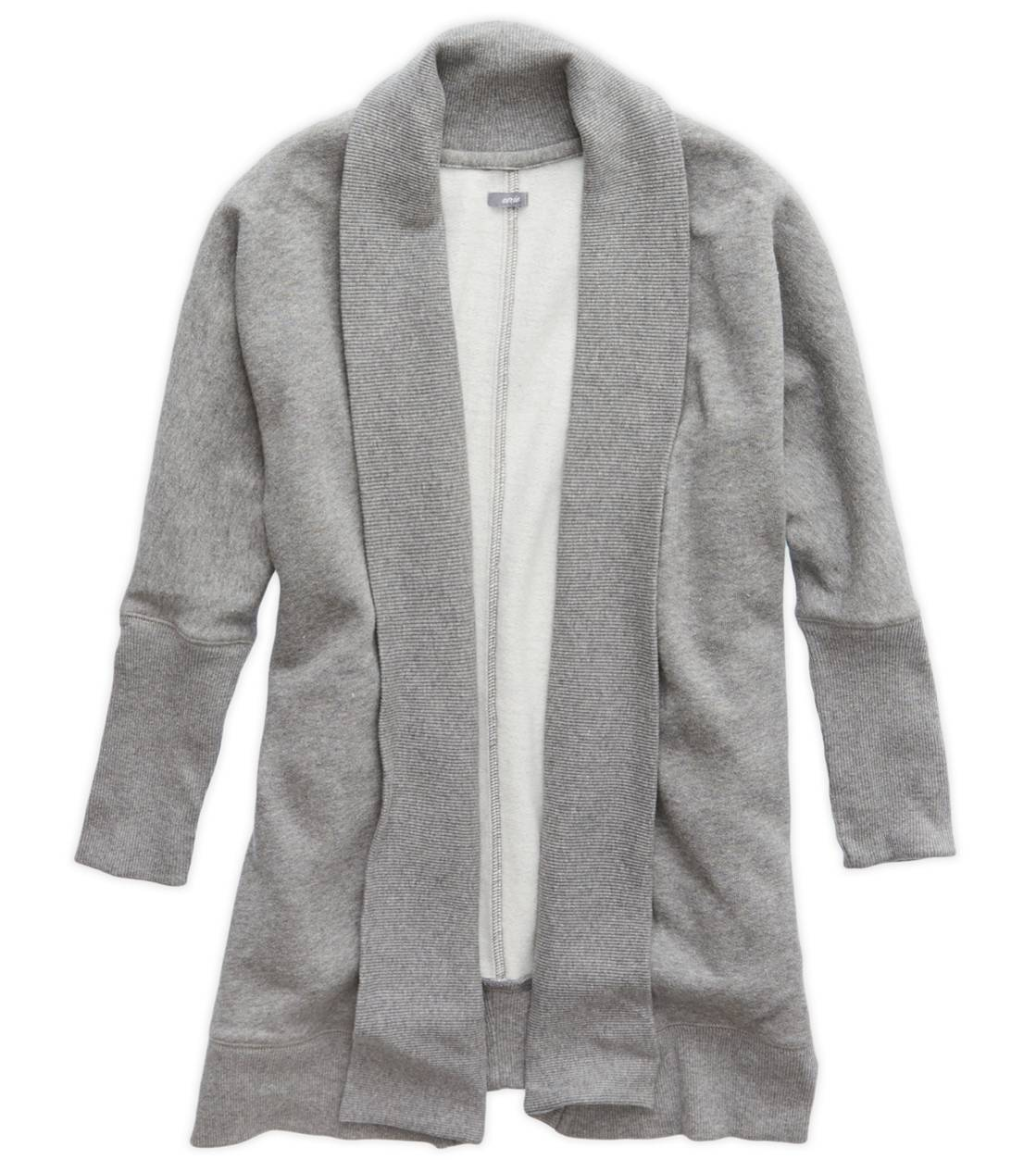 Dark Heather Grey Aerie Cozy Sweatshirt Cardigan